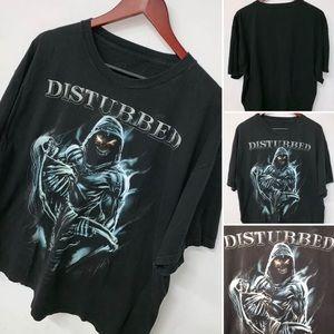 Disturbed XL 2XL Black Reaper Skeleton Shirt